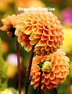 Beautiful Dahlias Full-Color Picture Book: Flower Picture Book for Children, Seniors and Alzheimer's Patients -Flowers Nat...