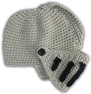 1af101bc2ce GIANCOMICS Roman Cosplay Knight Helmet Visor Crochet Knit Beanie Hat Winter  Mask Cap