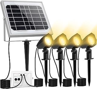 Lampe Solaire Exterieur 3 modes d'éclairage, CLY Projecteur LED Exterieur Solaire 2 luminosité, Spot Solaire Exterieur ave...