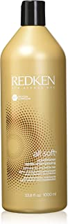 Redken All Soft Conditioner, For Dry Brittle Hair, 33.8 ounces Bottle