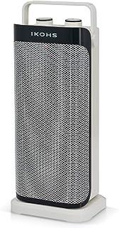 IKOHS QUICKWARM - Calefactor Cerámico de PTC, 2000W, Ligero, Portátil, Termostato Regulable, Oscilante, Silencioso, Autoapagado, Antivuelco, Protección Sobrecalentamiento, Blanco (Blanco)