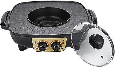 Draagbare elektrische kookmachine voor thuisgebrui Electric Hot Pot Grill Electric Barbecue Grill Indoor 2 in 1 grote capa...