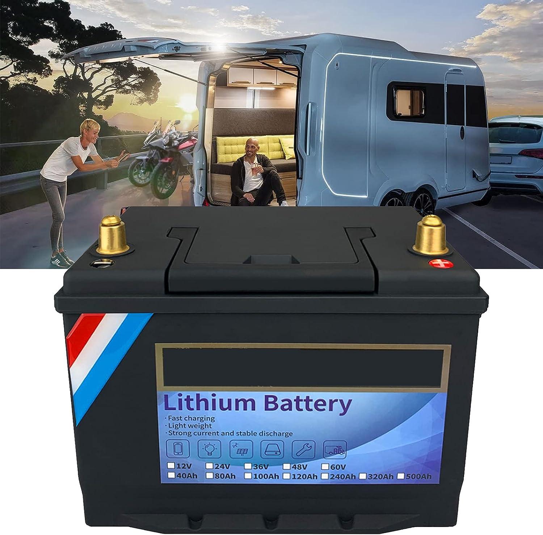 TDHLW Batería LiFePO4 de Ciclo Profundo de 12V,40Ah-320Ah,Fosfato de Hierro y Litio,Recargable,para Uso Marino/RV,baterías de Iones de Litio BMS Incorporado para Camping