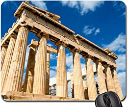 Mouse Pads - Greece Palace Sky Parthenon Iconic Ruins Building