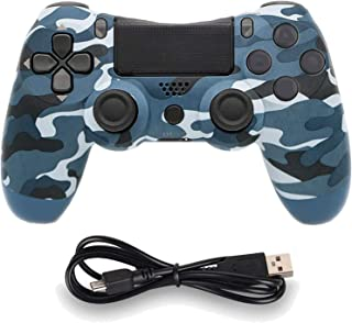 Wireless Controllers for PS4 Playstation 4 Dual Shock Six-axis,Bluetooth Remote Gaming Gamepad Joystick (Blue Camouflage)