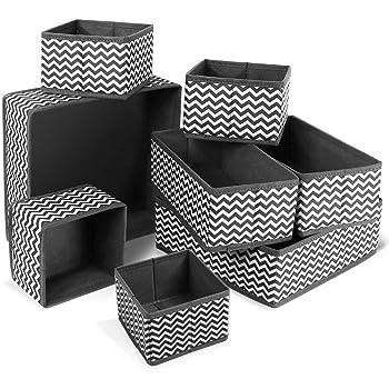 Libershine 8PCS Caja de Almacenamiento de Tela, Tela Plegable, Apto para aparadores, cajones y armarios, Cajas de Almacenamiento Flexibles,Cajas Organizadoras para Cajón: Amazon.es: Hogar