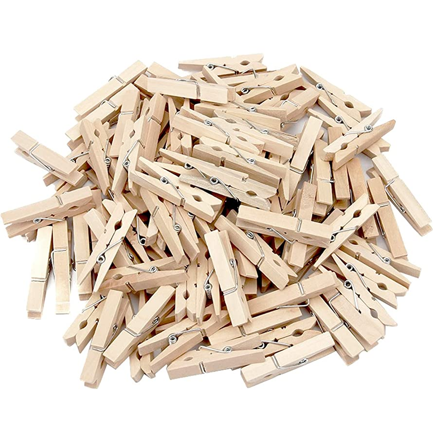 Generic Sturdy Natural Wood Clothespins 1 3/4