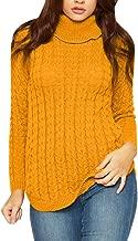 Viottiset Women's Wool Blending Turtleneck Knit Sweater Pullover Slim Fit Jumpers