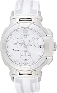 T0484171711600 T-Racechronograph Rubber Ladies Watch