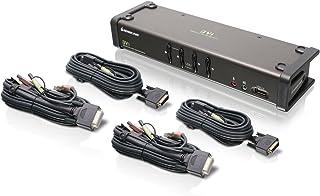 IOGEAR 4-Port DVI KVMP Switch with Cables, TAA Compliant, GCS1104