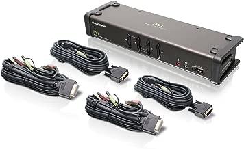 IOGEAR 4-Port DVI Kvmp Switch with Full Set of Cables (GCS1104 TAA Compliant)