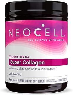 NeoCell Super Collagen Powder, 19oz, Non-GMO, Grass Fed, Paleo Friendly, Gluten Free, Collagen Peptides Types 1 & 3 for Ha...