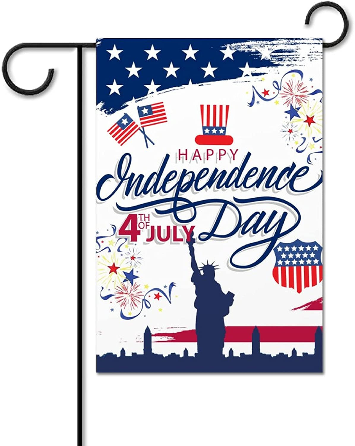 Independence Day 4th of July Double Sided Garden Flag American flag Outdoor Decorative Flag 12*18 Inches Memorial Patriotic Star Statue of Liberty house Flag Yard for Homes and Gardens
