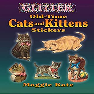 ملصقات قطط صغيرة لامعة لوقت طويل من دوفر بوكس.