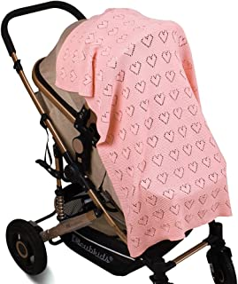 2019 Baby Blanket, Knitted Hollow Love Quilt,Air Conditioner Quilt, Multifunctional Blanket Pram Cot Crib Newborn Crochet ...