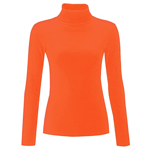 89bbbf3926dc2e Re Tech UK Ladies Plain Ribbed Cotton Polo Turtle Roll Neck Tunic Top Jumper  Full Sleeve