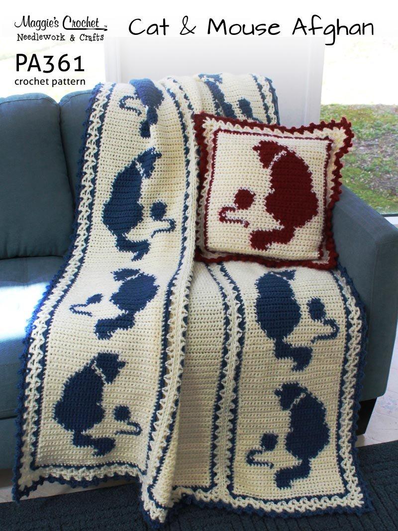 Crochet Cat Afghan Blanket Free Crochet Pattern | 1066x800