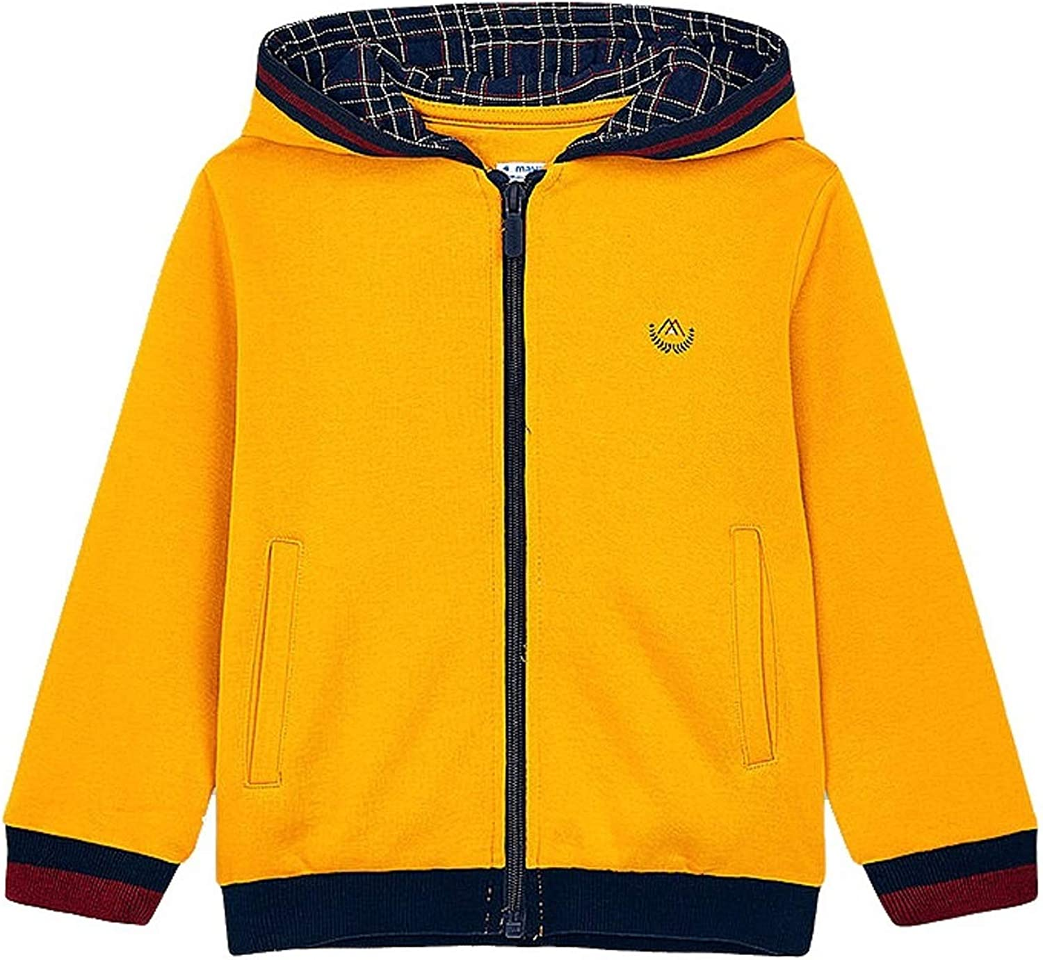 Mayoral - Contrast Hoodie for Boys - 4486, Wheat