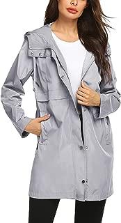 Rain Jacket Women Waterproof Raincoat with Hood Plus Size Lightweight