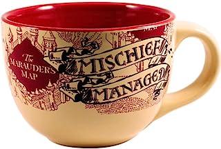 Silver Buffalo HP2724 Harry Potter The Prisoner of Azkaban Mischief Managed Ceramic Soup Mug, 24-Ounces