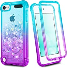 iPod Touch 7th 6th 5th Generation Case, Ruky iPod Touch 5 6 7 Full Body Glitter Case with Built in Screen Protector Shockp...