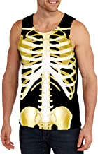 Belovecol Mens Tank Tops 3D Cool T Shirts Sleeveless Crewneck Graphic Tees S-XXL