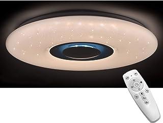 Lámpara de techo LED para salón, cambio de color con mando a distancia, 48 W, regulable