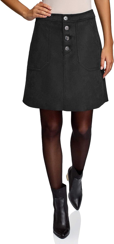 oodji Ultra Women's Faux Suede A-Line Skirt