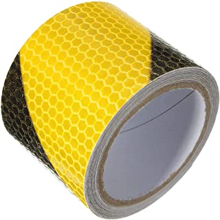 3M Yellow Black Night Safety Reflective Tape Warning Conspicuity Tape Film Sticker