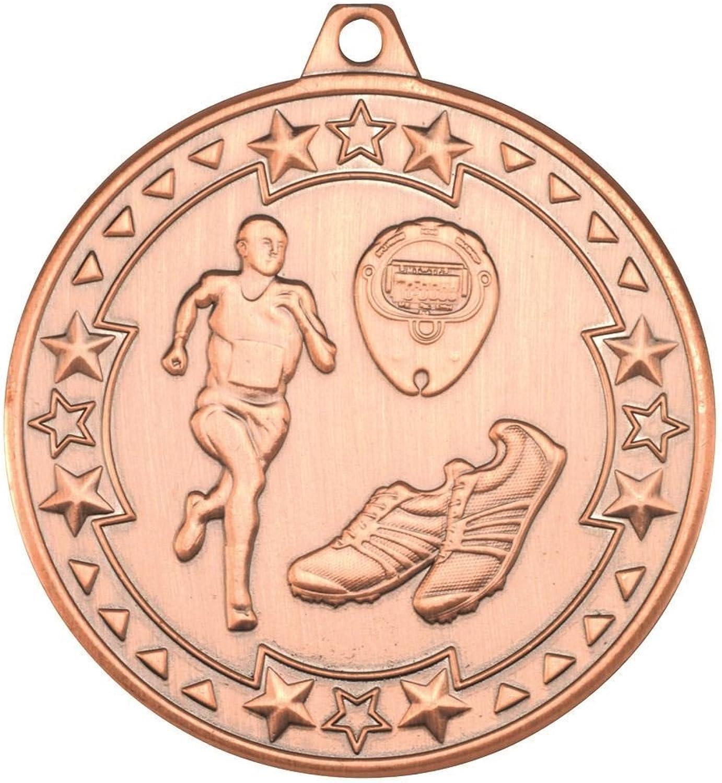 Running 'TRI Star' Medal  Bronze 2in Pack of 100