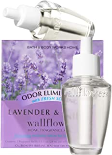 Bath & Body Works Lavender & Vanilla Odor Eliminating With Fresh Source Wallflowers Home Fragrance Refills, 2-Pack (1.6 fl oz total)