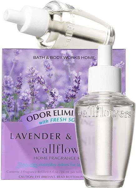 Bath Body Works Lavender Vanilla Odor Eliminating With Fresh Source Wallflowers Home Fragrance Refills 2 Pack 1 6 Fl Oz Total