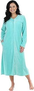 Women's Long Sleeve Zip Front Long Robe Housecoat