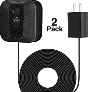 Power Adapter with 20 ft/6 m Weatherproof Cable for Blink Outdoor XT XT2/Indoor Home Security Camera, Continuously Operate Blink Security Camera, No Need to Change The Battery (2 Pack Black)