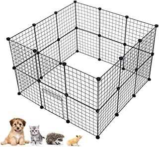 Yosooo Pet Playpen, DIY Adjustable Portable Foldable Rabbit Cage House Fence Exercise Pen Crate Kennel Hutch Guinea Pig Indoor Outdoor