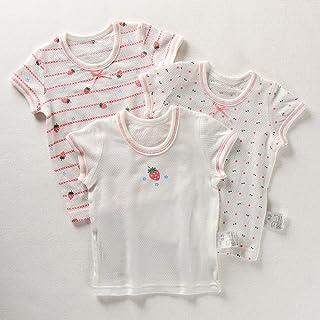 Naturhand 南禾 夏季新品童装 女童网眼短袖棉 女孩女宝宝甜美草莓T恤0-8岁 3件组合装