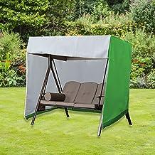 "SHANGXING Outdoor Patio Swing Covers- 86""x 49""x 66"" Waterproof Garden Swing Hammock Glider Cover- Foldable Outdoor Garden ..."