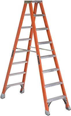 Louisville Ladder FM1508 Fiberglass Twin Front Ladder, 8-Feet, 300-Pound Duty Rating