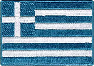 Greece Flag Embroidered Patch Greek Iron-On National Emblem
