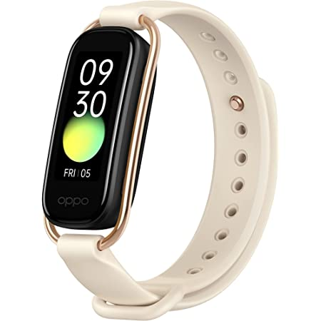 """OPPO Smart Band with Extra Sport Strap - Continuous Blood Oxygen Saturation Monitoring(spO2, Up to 12 Days Battery Life, 1.1"""" AMOLED Display, 5ATM Water Resistant,Supports Android and iOS(Vanilla"""