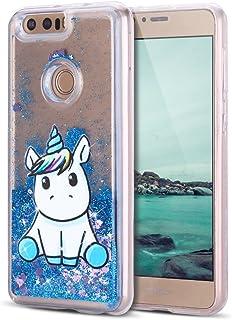 ad4e9113d08 Funda para Huawei Honor 8 Carcasa, Mosoris 3D Bling Glitter Líquido Brillar  Silicona TPU Cubierta