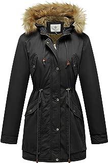 Women's Winter Coat Fleece Cotton Military Parka Fur Hooded Jacket