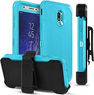 Wareon-Samsung Galaxy J3 2018(2019) Case/Galaxy J3 Orbit/Galaxy J3 Star/J3 V J3V 3rd Gen/J3 Achieve/Amp Prime3/Express Prime 3/Sol 3/J3 Aura Case w/[Swivel Belt Clip&Kickstand] Shockproof Case-Teal
