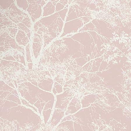 Holden Decor Statement Wallpaper Whispering Trees Dusky Pink 65400 Full Roll