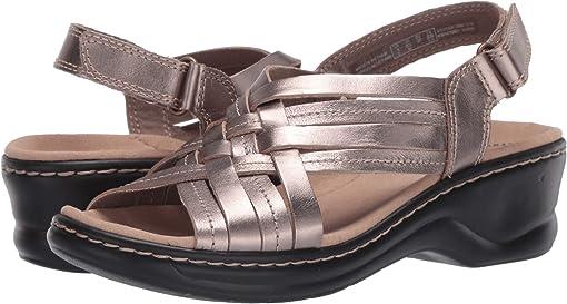 Pewter Metallic Leather