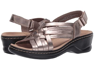 Clarks Lexi Carmen (Pewter Metallic Leather) Women