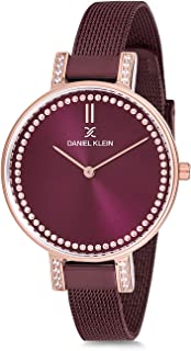 Daniel Klein Womens Quartz Watch, Analog Display and Stainless Steel Strap - DK12177-6
