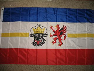 ALBATROS 3 ft x 5 ft Mecklenburg West Pomerania German State Germany Super-Poly Flag Banner for Home and Parades, Official Party, All Weather Indoors Outdoors