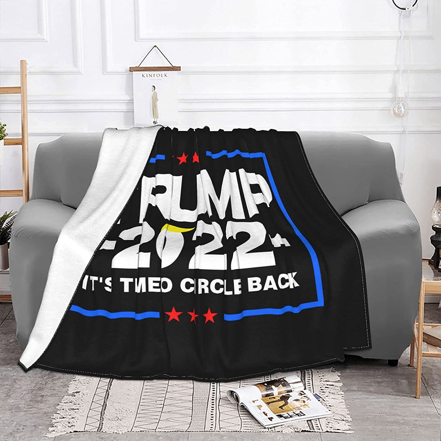 Gorgeous Trump NEW before selling 2022 It's Time to Circle Ultra Back Soft Anti-Pill Blanket