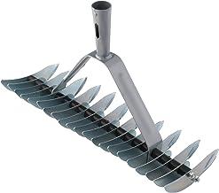 Xclou Handmatige verticuteermachine, gazonventilator voor tuin, mosverwijderaar, breed met 32 messen, hark met conische st...